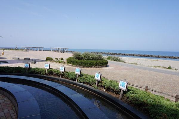 瀬波海浜公園足湯